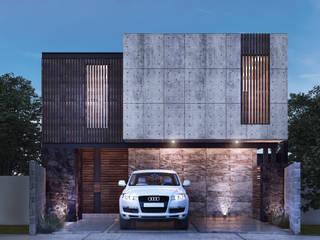 Residencia LA [León, Gto.] 3C Arquitectos S.A. de C.V. Casas unifamiliares Hierro/Acero Gris