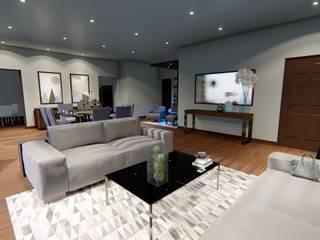 Casa Fitza Salones modernos de Espacio27 Moderno