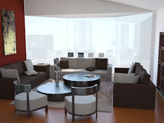 Casa Esrom Salones modernos de Espacio27 Moderno