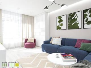 Modern living room by Мастерская интерьера Юлии Шевелевой Modern