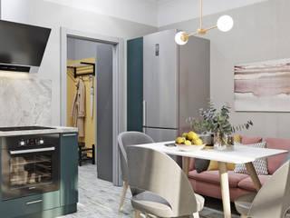 Кухня+прихожая: Кухни в . Автор – DesignNika