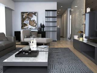 Sinpaş Marina Modern Oturma Odası HAZER INTERIOR DESIGN STUDIO Modern