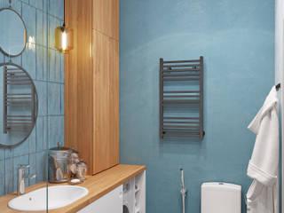 Санузел жк Ньютон: Ванные комнаты в . Автор – DesignNika