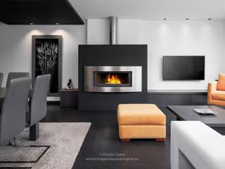 Salones modernos de arQmonia estudio, Arquitectos de interior, Asturias Moderno