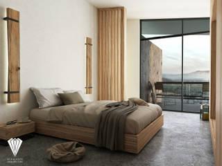 Camera da letto in stile mediterraneo di Diamante Arquitectura Mediterraneo