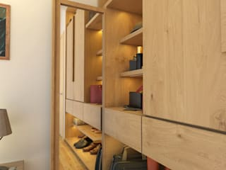 Minimalist dressing room by Diamante Arquitectura Minimalist