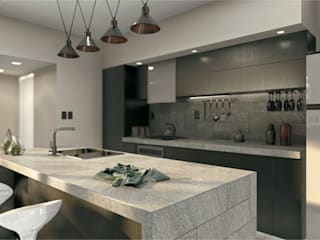 Built-in kitchens by Estudio NP+a, Minimalist