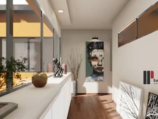Viviendas Unifamiliares: Pasillos y recibidores de estilo  por Estudio NP+a,Minimalista