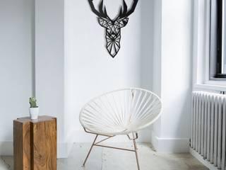 Deer Spirit - Odun Arts / Tótem Madera de Odun Arts Minimalista