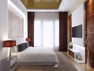 Camera da letto piccola in stile  di Space Interface