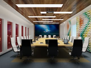 Industrial style commercial spaces by Space Interface Industrial