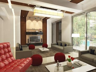 Eclectic style living room by Space Interface Eclectic