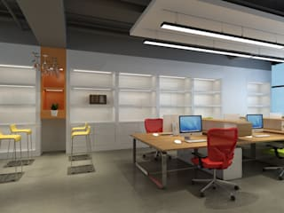 Commercial Spaces by Space Interface, Industrial