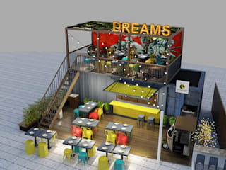 Container Restaurant In Gurugram by Space Interface Modern