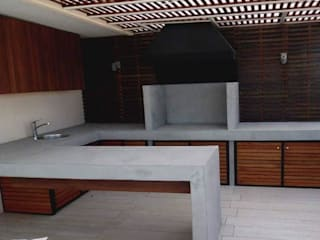 Construcción de Quinchos Balcones y terrazas modernos de N&V diseño y construcción Moderno