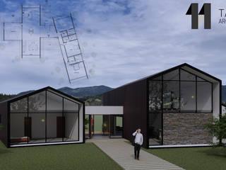 Casa Zapata: Casas de estilo  por Taller Once Arquitectura