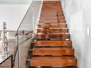 GENETICA ARQ STUDIO Stairs Wood Wood effect