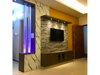 Mr. Balamurugan Residence @ Bangalore Modern living room by Olive Architecture Studio Modern