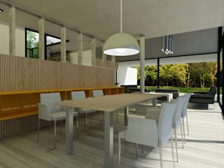 Casa ZH: Comedores de estilo  por Vetas Sur, Moderno