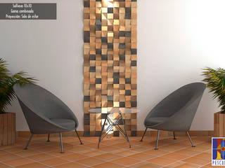 ENCHAPE SOLLIEVO: Espacios comerciales de estilo  por TEJAR DE PESCADERO SAS,