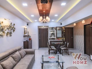 Sandeep Jain - 2BHK @ Mumbai Modern living room by Wow Homz Modern