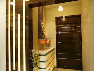 Nilesh Darjee - 2BHK @ Mumbai Modern corridor, hallway & stairs by Wow Homz Modern