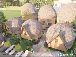 Mẫu thiết kế bungalow ốc sên:   by Công ty TNHH Ông Kien