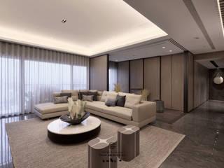 Salas de estar modernas por 行一建築 _ Yuan Architects Moderno