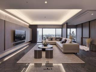 Wohnzimmer von 行一建築 _ Yuan Architects, Modern