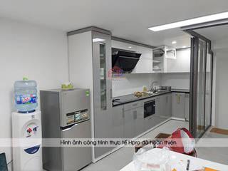 Công trình tủ bếp acrylic nhà anh Thành - Thụy Khuê: hiện đại  by Nội thất Hpro, Hiện đại