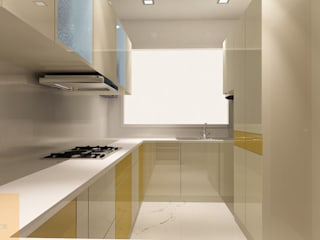 Dapur oleh Matter Of Space Pvt. Ltd., Minimalis