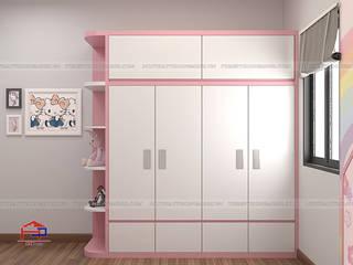 Công trình tủ bếp acrylic và nội thất phòng ngủ gỗ An Cường nhà chị Hướng - Thổ Tang, Vĩnh Phúc Nội thất Hpro BedroomWardrobes & closets Multicolored