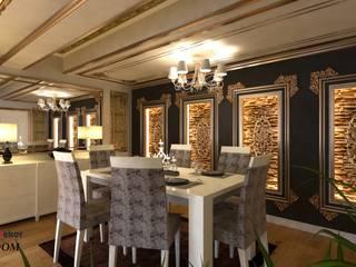 Luxtavandekor LTD ''Hayal etmenin yeri, zamanı ve sınırı yoktur'' İç ve Diş Mimari Tasarim ve Projeler (Interior design and project company) +905325964216 +902324336676 www.luxtavandekor.com LÜX TAVAN DEKOR Klasik Yemek Odası Altın Sarısı