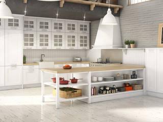 Infografias 3D y Renders 3D Madrid Dapur Gaya Mediteran