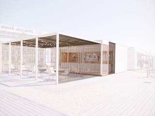 Infografias 3D y Renders 3D Madrid Balkon, Beranda & Teras Modern