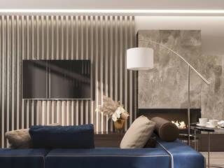 Дизайн-проект квартиры для молодого человека: Гостиная в . Автор – Анастасия Свистович,