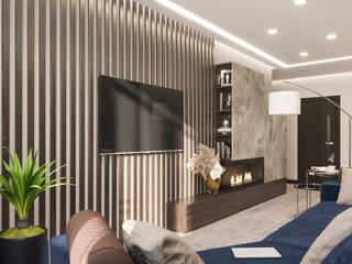 Дизайн-проект квартиры для молодого человека Гостиная в стиле минимализм от Анастасия Свистович Минимализм