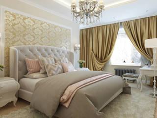 Dormitorios de estilo clásico de Студия дизайна интерьера Татьяны Лазурной Clásico
