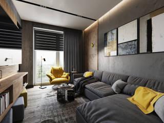Phòng khách theo Студия дизайна интерьера Татьяны Лазурной, Công nghiệp
