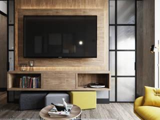 Salas de estilo industrial de Студия дизайна интерьера Татьяны Лазурной Industrial