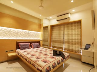 3bhk contemporary apartment in Mumbai Eclectic style bedroom by Xtrud designs associates Eclectic