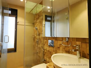3bhk contemporary apartment in Mumbai Eclectic style bathroom by Xtrud designs associates Eclectic