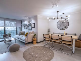 Living room by Klover, Scandinavian