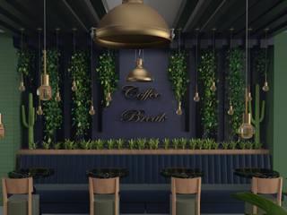 Interıart Factory – kafe iç mekan tasarım görselleştirmeleri: modern tarz , Modern