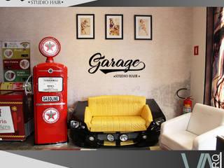 Garage Studio Hair: Espaços comerciais  por V.ARQ - Soluções em Arquitetura Corporativa,Moderno