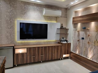 Drawing room: modern  by Design Kreations,Modern