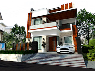 Exterior Elevation Modern houses by intent interior Modern