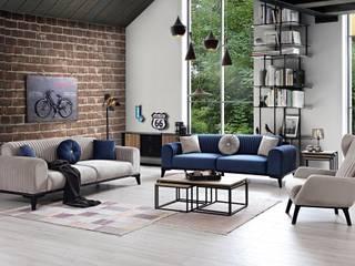 Luxev Mobilya ห้องนั่งเล่นโซฟาและเก้าอี้นวม
