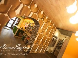 Дизайн-проект для магазина эко-мяса.. площадью 45 м2: Коммерческие помещения в . Автор – Студия дизайна ALIONA SAJIN DESIGN SOLUTIONS,