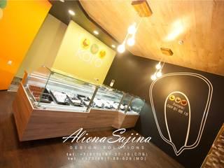 Дизайн-проект для магазина эко-мяса.. площадью 45 м2:  в . Автор – Студия дизайна ALIONA SAJIN DESIGN SOLUTIONS,
